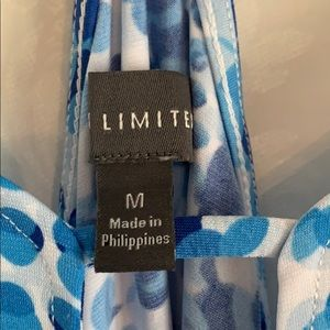The Limited Tops - The Limited Blue Dot Racerback Tank